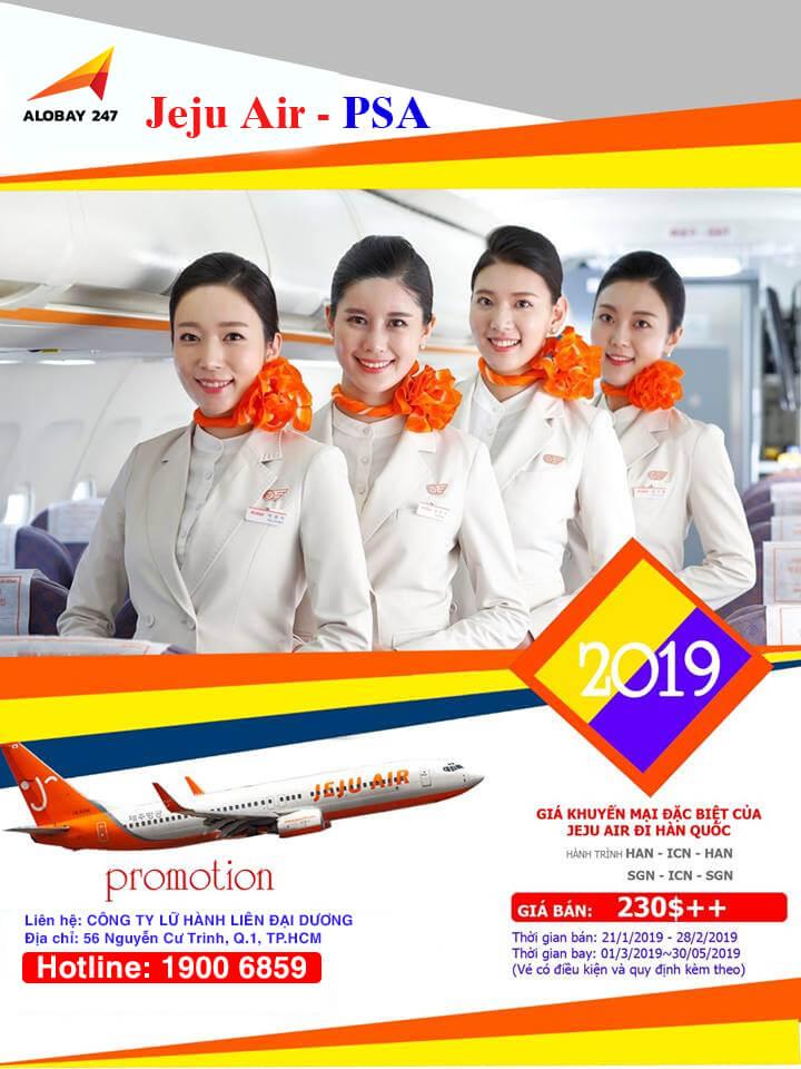 Jeju Air ưu đãi vé máy bay đi Hàn Quốc chỉ từ 230USD