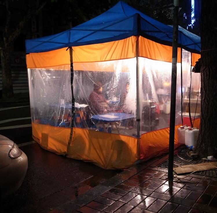 Trải nghiệm ăn tối tại lều Soju