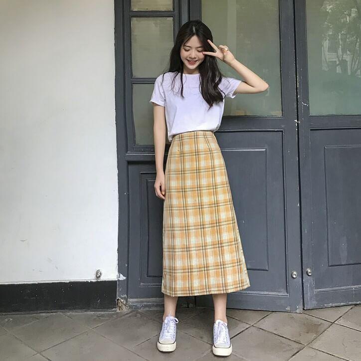 Set áo và chân váy dài