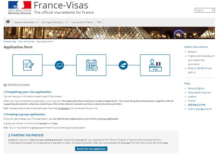 đặt lịch hẹn visa Pháp